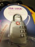 ダイヤル式のTSAロックの写真