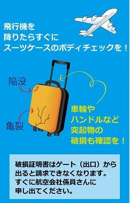 スーツケースのボディチェックについての説明画像