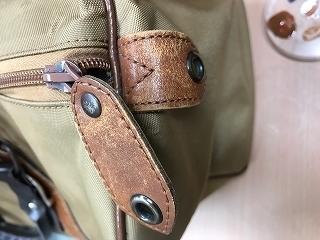 皮革パーツ染料の部分的はがれ染色前の写真
